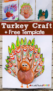thanksgiving turkey craft for kids and free template