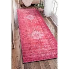 Pink Runner Rug Nuloom Vintage Inspired Adileh Overdyed Pink Runner Rug 2 8 X 8