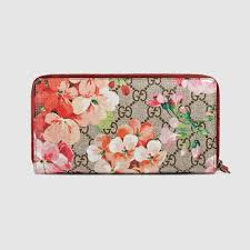 gg blooms zip around wallet gucci 404071ku24n8693