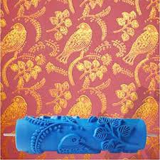 paint rollers with patterns bird patterned roller 7inch 3d wallpaper decoration toll wall