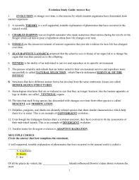 darwin u0027s natural selection worksheet bioeoc