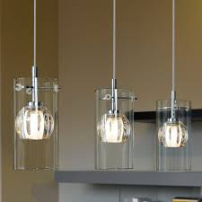 kitchen design alluring clear glass pendant light over island