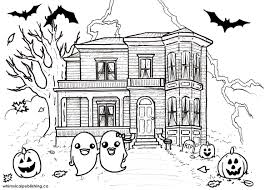 house colouring haunted house coloring pages free printable house coloring pages