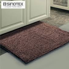 Thick Bathroom Rugs Brown Mat Thick Shaggy Soft Rug Large Size Bath Mat Floor Carpet