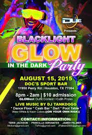 blacklight glow in the dark party 8 15 15 u2013 houston u2013 deaf network