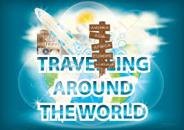 traveling around the world images Travelling around the world wallpaper vector image 1619557 jpg