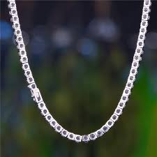white chain bracelet images 5mm white gold iced out tennis chain and bracelet set hip hop jpg