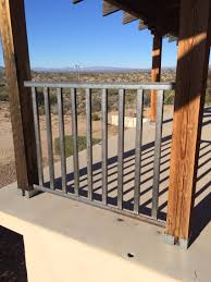 porch railing for ranch style house with large deck posts are 6x6