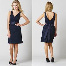 navy blue lace bridesmaid dress design navy blue v back lace bridesmaid dress with