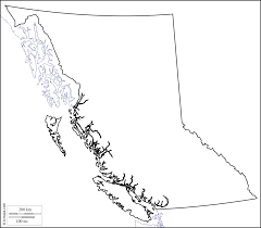Blank Map Of Canada by British Columbia Free Map Free Blank Map Free Outline Map Free