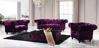 Purple Velvet Chesterfield Sofa Chesterfield Boutique Crush Velvet Three Seater Purple Sofa