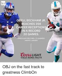 coors light cold hard facts br atm odell beckham jr reaches 200 career receptions in a record 30