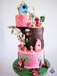 birdhouse enchanted forest cake cake by veenas art of cakes