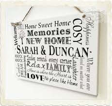New Home Gift by Plaque New Home Gift Housewarming Personalised Sign Keepsake W58