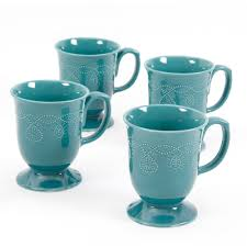 the pioneer woman cowgirl lace mug set set of 4 walmart com