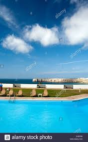 sagres portugal swimming pool of a hotel complex stock photo