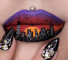 20 wildly gorgeous and creative lip art designs pampadour