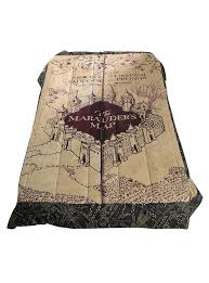 Harry Potter Marauders Map Amazon Com Harry Potter Marauders Map Full Queen Comforter Bed