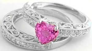 pink wedding rings pink wedding ring set mindyourbiz us