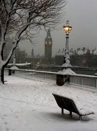noche nevada en londres inglaterra imagenes maravillosas