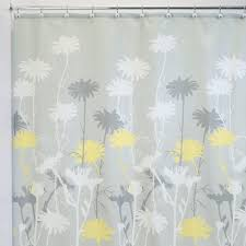 amazon com interdesign daizy shower curtain gray and yellow 72