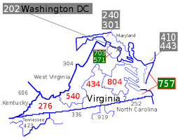 area code 202 us government list of virginia area codes