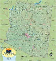 Map Of Arizona by Map Of Arizona United States Of America Usa Map In The Atlas