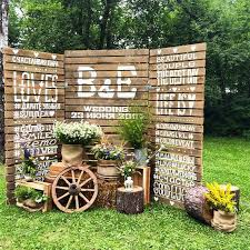 wedding backdrop rustic rustic touch backdrop for country side wedding weddceremony