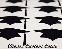 graduation cap stickers graduation hat decal etsy