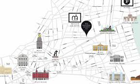 Map Walking Distance Our Map The Principal Madrid Hotel