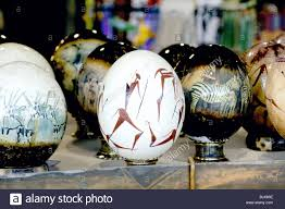 painted ostrich eggs artistically painted ostrich eggs namibia stock photo royalty