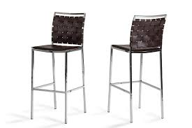Brown Leather Bar Stool Bar Stools And Modern Bar Stools For Your Kitchen And
