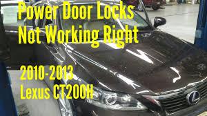 lexus actuator recall 2010 2012 lexus ct200h power door locks not working solved youtube