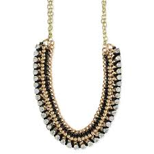 gold crystal beaded necklace images Wholesale gold black crystal necklace zad fashion costume jpg