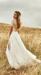 vintage boho summer beach wedding dresses princess backless lace