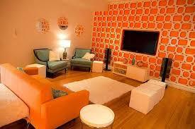 Lively Orange Living Room Design Ideas Rilane - Orange living room decorating ideas