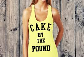 cake by the pound tank top queen apparel