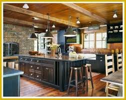 Black Rustic Kitchen Cabinets Modern Rustic Kitchen Lighting With Wooden Floor And Black Cabinet