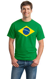 What Colour Is Brazil Flag Amazon Com Brazil National Flag Unisex T Shirt Bandeira Do