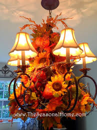 How To Decorate A Chandelier A Versatile Chandelier Idea For Fall Halloween Thanksgiving