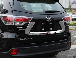 toyota highlander 2015 high quality abs chrome car lisence frame license plate bracket