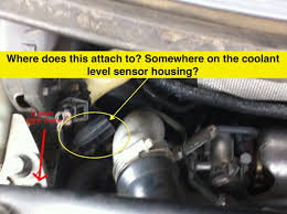 05 xc90 mystery cable replaced coolant level sensor