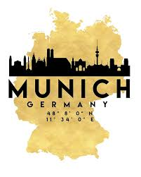 Munich Germany Map by Cologne Germany Silhouette Skyline Map Art Von Deificusart Maps