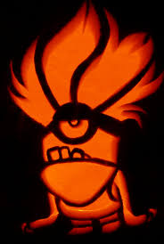 Zero Nightmare Before Christmas Pumpkin Carving Patterns by Carved Pumpkin Purple Minion For Despicable Me 2 Pumpkin