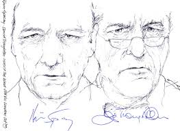 drawing kevin spacey and david troughton in inherit the wind