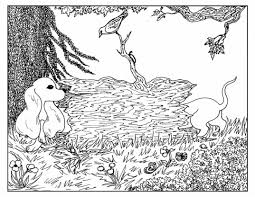 advanced coloring pages of nature and dog coloringstar