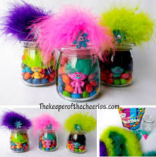 troll for halloween trolls party favor treat jars