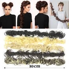 headband hair extensions soowee 80cm synthetic hair bun curly hair extension headband