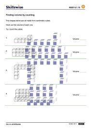 finding volume worksheets worksheets