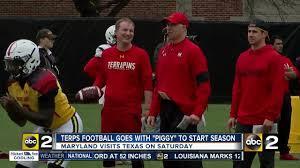 Red Flag Football Piggy U0027 To Lead Terps Into Texas For Season Opener Abc2news Com